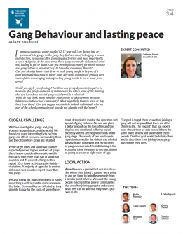 Gang behaviour and lasting peace