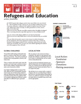 Refugees and education